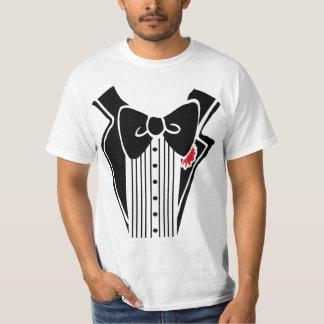 タキシードのワイシャツの黒 Tシャツ