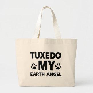 タキシードの地球ペット ラージトートバッグ