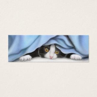 タキシードの子ネコのしおりを遊ぶこと スキニー名刺