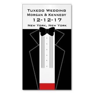 タキシードの結婚式によってカスタマイズマグネティック・カード マグネット名刺