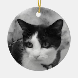 タキシード猫のオーナメント セラミックオーナメント