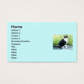 タキシード猫の名刺 名刺