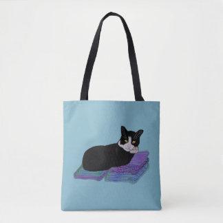 タキシード猫の昼寝 トートバッグ