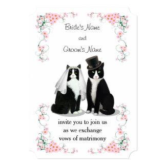 タキシード猫の結婚式 カード