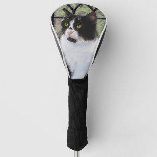 タキシード猫の絵画-かわいい元の猫の芸術 ゴルフヘッドカバー