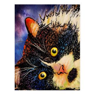 タキシード猫の郵便はがき ポストカード