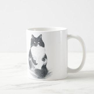 タキシード猫の鉛筆のスケッチのマグ コーヒーマグカップ