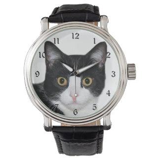 タキシード猫の顔 腕時計