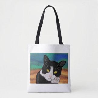 タキシード猫 トートバッグ