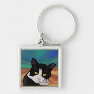 タキシード猫Keychain キーホルダー
