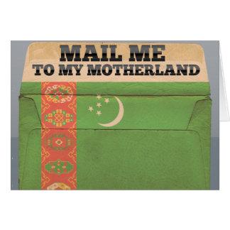 タキマンニスタンに私を郵送して下さい ノートカード