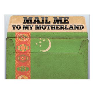 タキマンニスタンに私を郵送して下さい ポストカード
