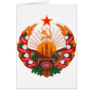 タキマンニスタンの公式の紋章学の記号紋章付き外衣 カード