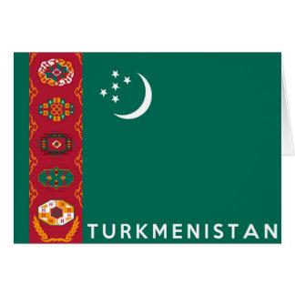 タキマンニスタンの国旗の記号の名前の文字 カード