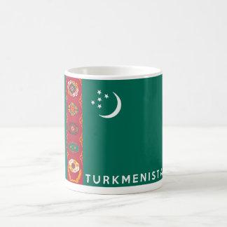 タキマンニスタンの国旗の記号の名前の文字 コーヒーマグカップ