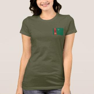 タキマンニスタンの旗および地図dkのTシャツ Tシャツ