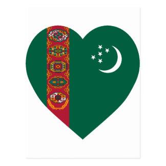 タキマンニスタンの旗のハート はがき