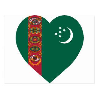 タキマンニスタンの旗のハート ポストカード
