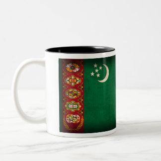 タキマンニスタンの旗の動揺してなマグ ツートーンマグカップ