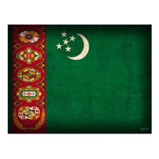 タキマンニスタンの旗の動揺してな郵便はがき 葉書き