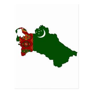 タキマンニスタンの旗の地図 はがき