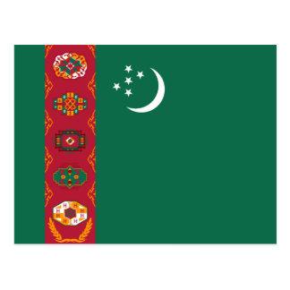 タキマンニスタンの旗の郵便はがき ポストカード