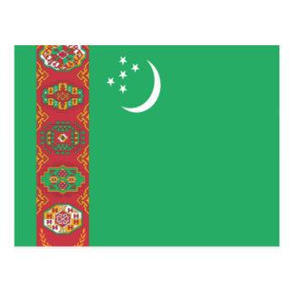 タキマンニスタンの旗 はがき