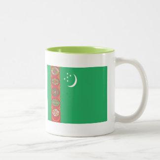 タキマンニスタンの旗 ツートーンマグカップ