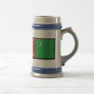 タキマンニスタンの旗 ビールジョッキ