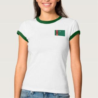 タキマンニスタンの旗 + 地図のTシャツ Tシャツ