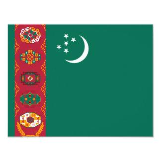 タキマンニスタンの旗 10.8 X 14 インビテーションカード