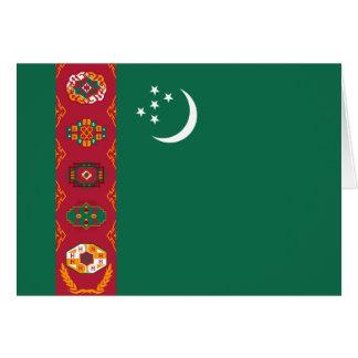 タキマンニスタンの旗Notecard カード
