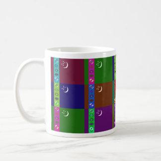 タキマンニスタンMultihueはマグに印を付けます コーヒーマグカップ