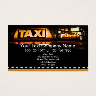 タクシーのサービス業カード 名刺