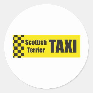 タクシーのスコットランド人テリア ラウンドシール