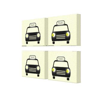 タクシーのマリオンの補償のクォードのパネル キャンバスプリント