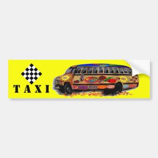 タクシーのミニバスのてんとう虫 バンパーステッカー