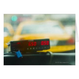 タクシーのメーター カード