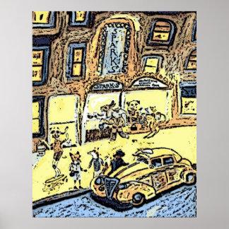 タクシーの乗車 ポスター