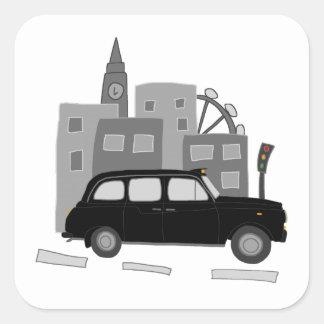 タクシー場面 スクエアシール
