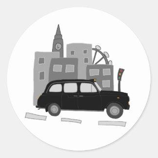 タクシー場面 ラウンドシール