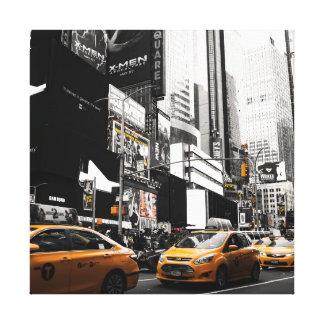 タクシーNYCの正方形のキャンバスのプリント キャンバスプリント