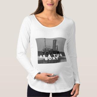 タグボートとして堅い妊婦のな長袖のTシャツ マタニティTシャツ