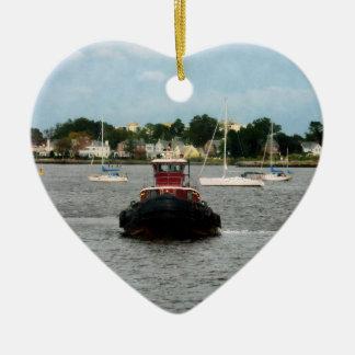 タグボートの弓ノーフォークVA セラミックオーナメント
