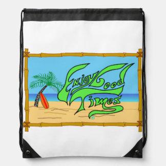 タケおよびビーチのバッグ ナップサック