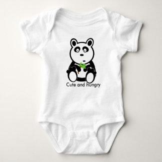 タケとのかわいく、空腹なパンダくまのデザイン ベビーボディスーツ