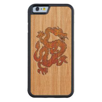 タケの深紅色のドラゴンは好みます CarvedメープルiPhone 6バンパーケース