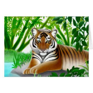 タケジャングルの挨拶状のトラ カード