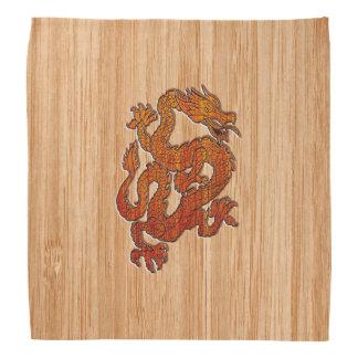 タケスタイルの赤い東洋のドラゴン バンダナ