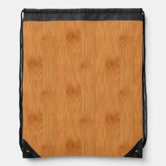タケトーストの木製の穀物の一見 ナップサック